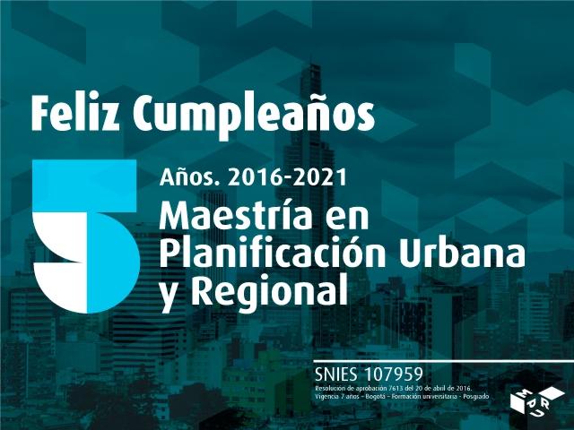 Maestría en Planificación Urbana y Regional- Cider   Uniandes