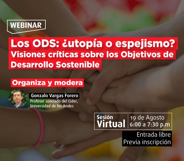 Seminario virtual: Los ODS: ¿utopía o espejismo? - Cider | Uniandes