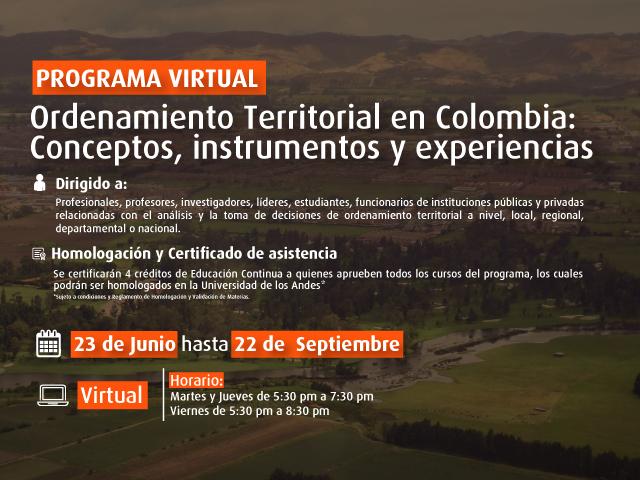 Curso de Ordenamiento Territorial en Colombia - Cider   Uniandes