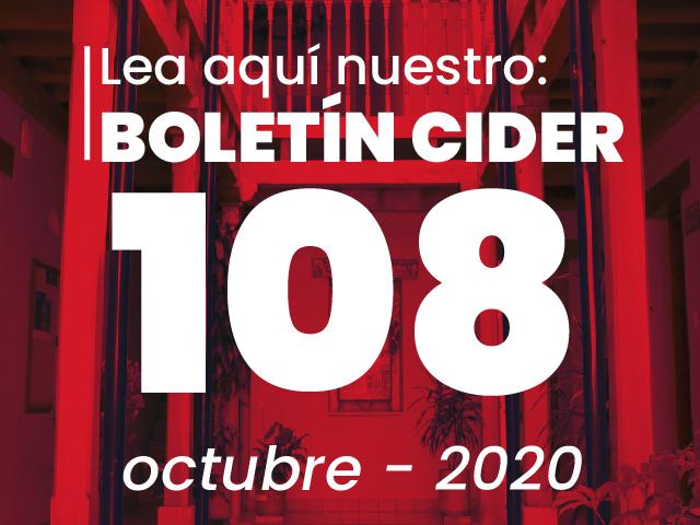 Boletín informativo Cider. Edición 108- octubre de 2020 - Cider | Uniandes