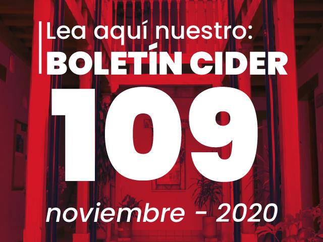 Boletín informativo Cider. Edición 109- noviembre de 2020- Cider   Uniandes