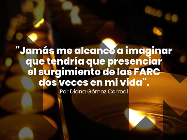 Velas prendidas en conmemoración a las víctimas de la guerra en Colombia