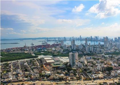 Foto aérea de Cartagena Clúster Petroquímico-plástico de Cartagena y Bolívar Cider | Uniandes
