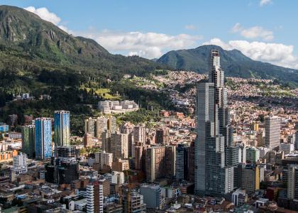 imagen aérea de la ciudad de Bogotá comisión y empalme de POT - Cider   Uniandes