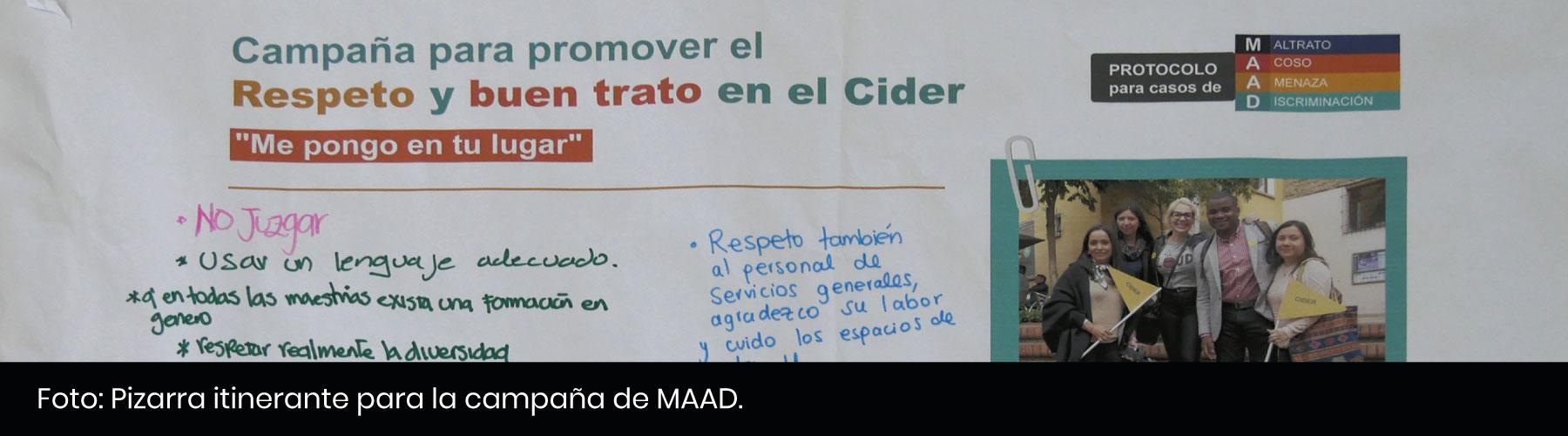 Pizarra-Campaña MAAD - Cider   Uniandes