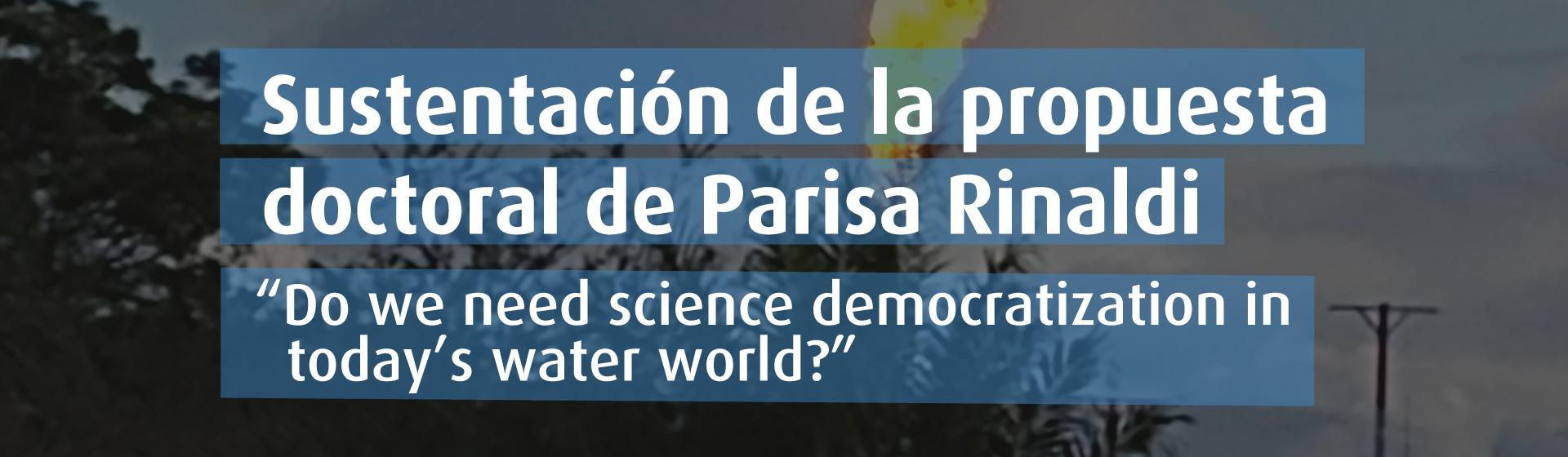 Sustentación de la propuesta doctoral de Parisa Rinaldi- Cider | Uniandes