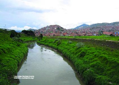 Foto río Tunjuelo. Caracterización diagnóstico y linea base de la cuenca urbana del río Tunjuelo. - Cider | Uniandes
