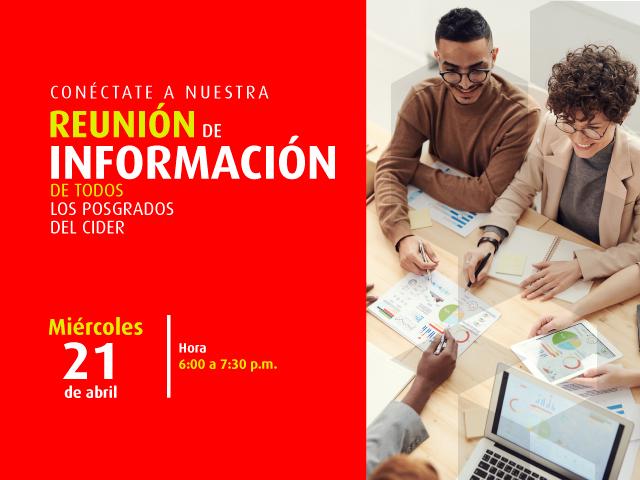 Reunión de información virtual de todos los posgrados del - Cider | Uniandes
