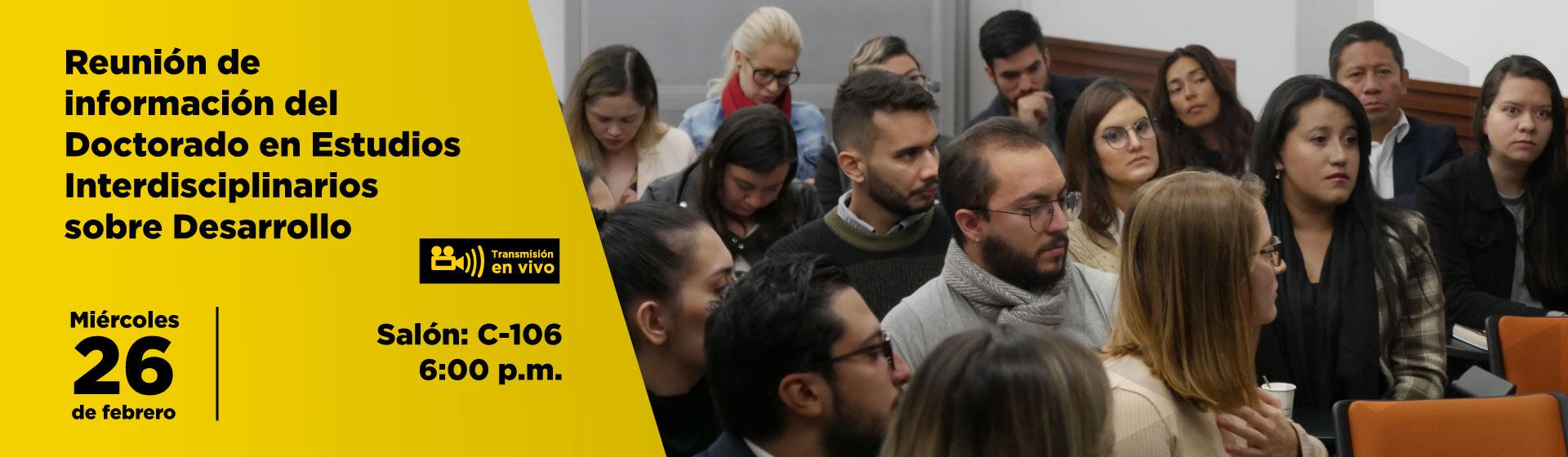 Reunión de información del Doctorado en Estudios Interdisciplinarios sobre Desarrollo Cider | Uniandes