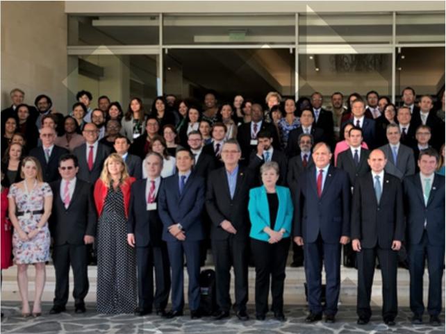 Foto oficial de delegados Tratado de Escazú