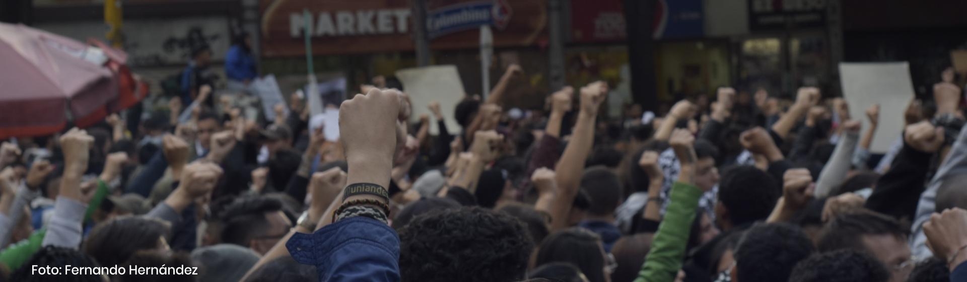 Estudiantes en el paro nacional y resistencia en torno al 21N Cider   Uniandes