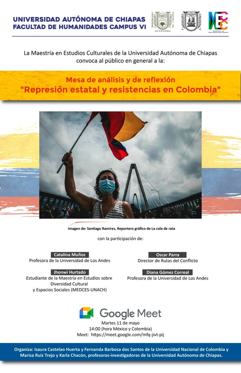 Diana Gómez participó en evento Represión estatal y resistencias en Colombia Cider | Uniandes