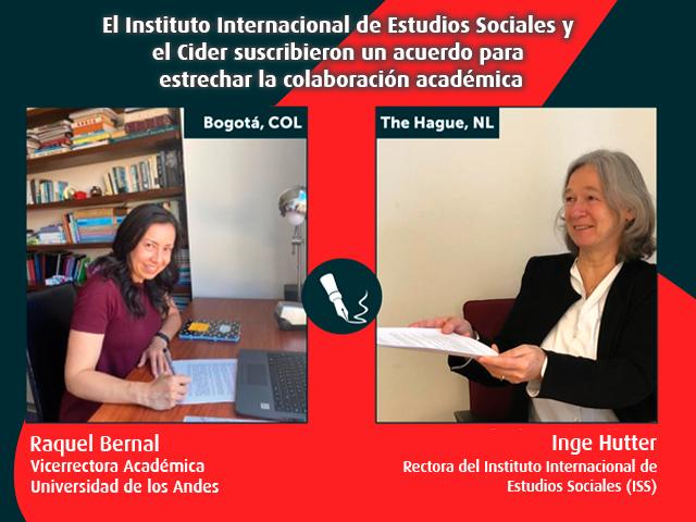 El Instituto Internacional de Estudios Sociales y el Cider suscribieron  un acuerdo para estrechar la colaboración académica- Cider | Uniandes