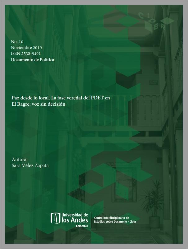 Paz desde lo local. La fase veredal del PDET en El Bagre: voz sin decisión- Cider | Uniandes