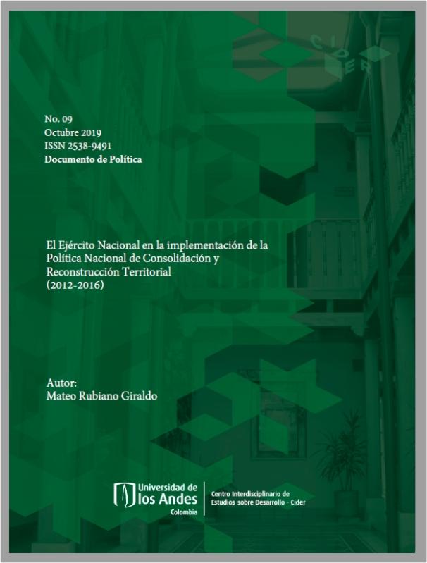 Documento-politica-ejercito-nacional-implementacion-Politica-nacional-reconstruccion-territorial- Cider | Uniandes